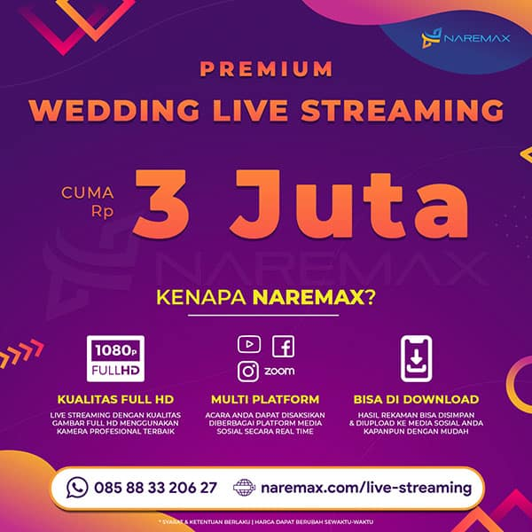 Jasa Wedding Live Streaming Murah NAREMAX Square - Jasa Live Streaming Murah - NAREMAX Live Streaming Premium
